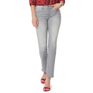 NEW NYDJ Marilyn Straight Leg Mid Rise Jeans in Gale
